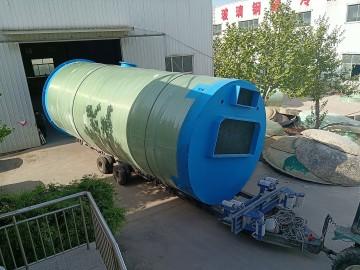 丽水玻璃钢一体化污水泵站